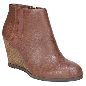 NEW Dr Scholls Wedge Ankle Boots Copper Brown 9.5